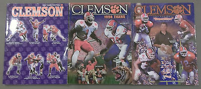 Clemson Football - Media Press Guide Book - Lot of 3 - 1997, 1998 and 1999