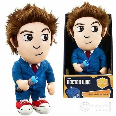 New Doctor Who 10th Doctor David Tennant Talking Plush Lights & Sounds Official