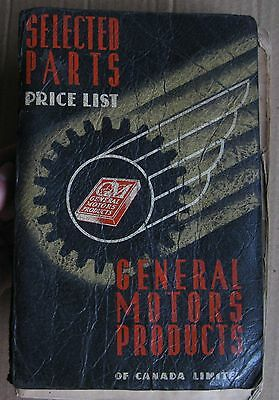 1941 GM Selected Parts Price List Book Chevrolet Olds Buick Maple Leaf GMC Truck