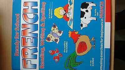 Children's Beginners French exercise book KS1,2 puzzles pictures word search