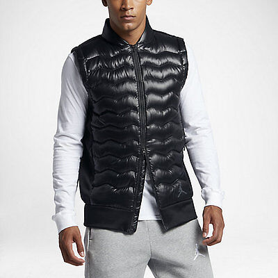dcf520eb830e NIKE MEN S MODERN Quilted Down Vest 806834-451 Navy blue black size ...