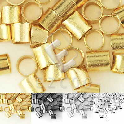 Crimp End Beads Tube Spacer Bead Jewellery Finding Makings Approx 900/1500pcs