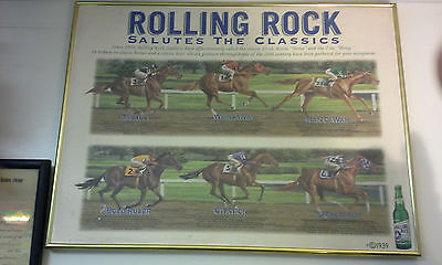 """Vintage Rolling Rock Beer """"Salutes the Classics"""" Advertising Wall Print"""