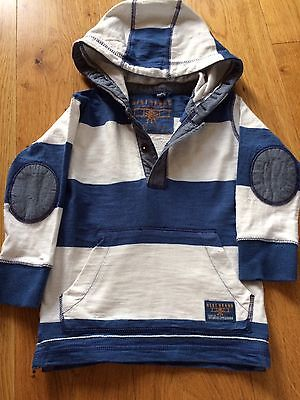 Boys Striped Hooded Top Next age 2-3