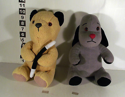 "10"" SOOTY BEAR WITH MAGIC WAND + 10"" SWEEP DOG - 2 x  SOOTY & SWEEP SOFT TOY"