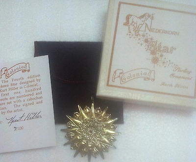 Niederkorn Star Forth Edition Sterling Christmas Ornament Signed and Numbered
