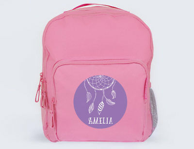 Bright Star Kids Personalised School Bag / Backpack with Name - Dreamcatcher