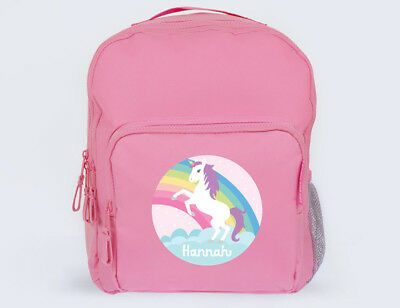 Unicorn & Rainbow Personalised School Bag / Backpack for Girls