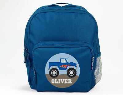 Bright Star Kids Personalised School Book Bag / Backpack - Monster Truck