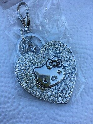 Hello Kitty Key Chain Fashion Rhinestone Heart