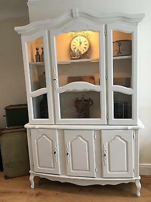 Beautiful French Shabby Chic Display Cabinet