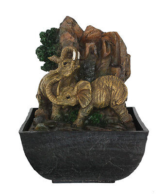 Elephants  Water Fountain  | Table Top Poly Resin Fountain