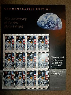 #2841 25th Anniversary of the First Moon Landing MNH VF+