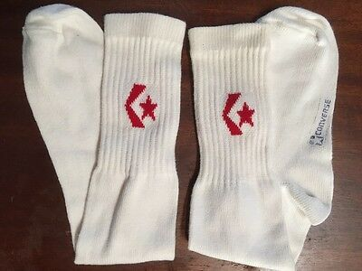 VTG DEADSTOCK 80s 1980s CONVERSE TUBE SOCKS RED STITCHED SYMBOL NEVER USED!