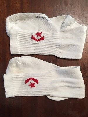 VTG Worn Once 80s 1980s CONVERSE TUBE SOCKS RED STITCHED SYMBOL NEVER Washed