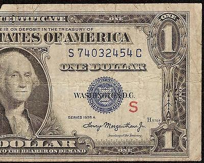 1935 A $1 Dollar Bill Red S Experimental Silver Certificate Currency Note F 1610