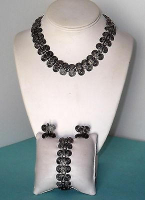 TAXCO Sterling Sliver Necklace bracelet and earrings