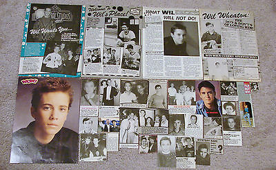 Wil Wheaton (Star Trek; Stand By Me) Magazine Clippings