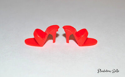Mattel Vintage Reproduction Barbie Fashion Accessory Shoes ~ Red Open-Toe Heels