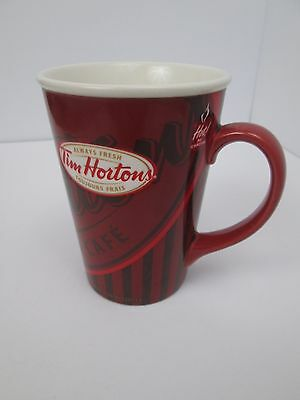 Tim Hortons Cafe Limited Edition Red Coffee Mug Cup #008 2008 Red Always Fresh