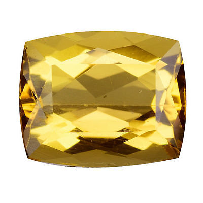 2.850Cts Gorgeous Amazing Golden Yellow Natural Beryl ( Heliodor )  Cushion