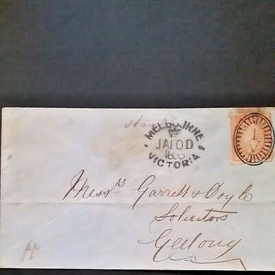 Victoria 1854 SC #17 Outstanding Woodblock Cover with XF Markings