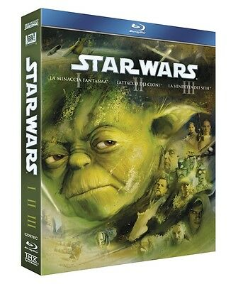 Cofanetto Blu Ray Star Wars 1 2 3 Trilogia Nuovo Ita Sigillato Starwars Bluray