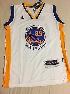 NBA Kevin Durant Golden State Warriors #35 White Jersey Mens