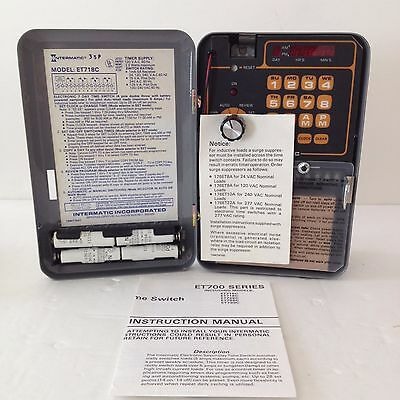 New/Factory Box Intermatic Electronic Time Switch 4 Pole Double Throw #ET718C8