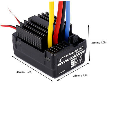 WP1040 60A Waterproof Brushed ESC Controller for Hobbywing Quicrun Car Motor FW#
