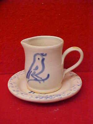 Rowe Pottery Works, Cambridge, Wi, Creamer & Saucer -  Made For Pleasant Company