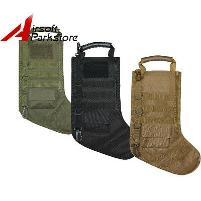 Military Christmas Holiday Stocking MOLLE Attachment Hanging Decorations 3colors