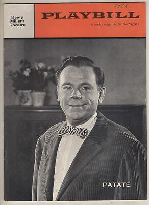 """Tom Ewell  """"Patate""""   FLOP   Playbill   OPENING NIGHT  1958"""