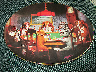 Ace in the hole (dogs playing cards)  plate