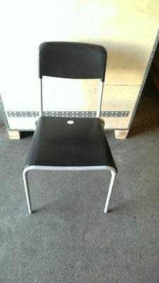 Black Color Stackable Plastic  Restaurant Chair - Used