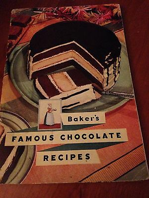 Vintage Baker's Famous Chocolate Recipes circa 1936
