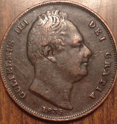 1835 Uk Farthing Better Grade