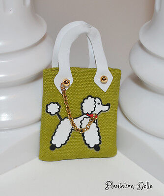 Poodle Parade Vintage Repro Barbie Fashion Accessory ~ Olive Green Tote / Purse