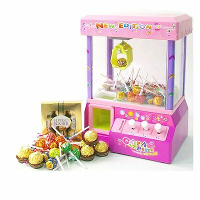 Candy Grabber Machine Joystick Catch Candy Soft Toys Game Party Gadget Retro new