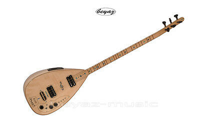 Pro Electric Baglama Saz For Studio + Stage Beyaz Music