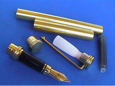 Woodturning Pen Kits Traditional - Gold/Chrome/Fountain or Rollerball/or Bushes