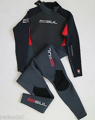 Gul Response 3Mm Mens Wetsuit Watersports Surf Canoe Kayak Graph/red M Ml L Xl