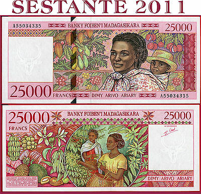 MADAGASCAR - 25.000 25000 FRANCS = 5.000 Ariary  nd 1988 -  P 82 - FDS / UNC