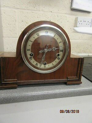 Westminster Chime Mantel Clock Ideal For Spares Or Repair C1950