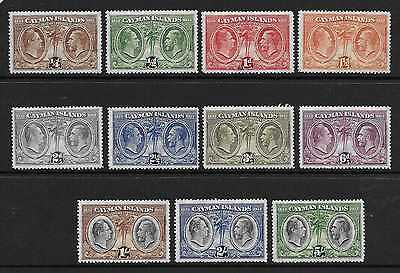 Cayman Islands  Sg 84/94  1932 Centenary Set To 5/-  Mounted (Hinged) Mint