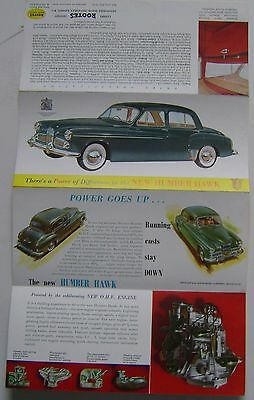 Humber Hawk Mk V Original Export Sales Brochure No. 3148/EX/74/10 circa 1954
