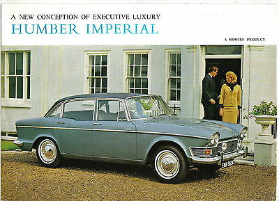 Humber Imperial Original UK Sales Brochure Pub. No. 1224/H 1965