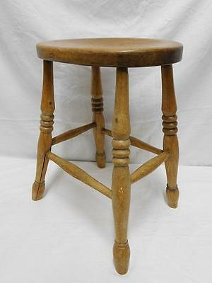 A Lovely Genuine Antique Farmhouse Kitchen Low Stool