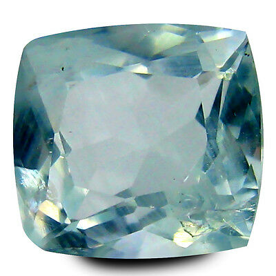 2.49 ct AAA Amazing Cushion Shape (9 x 8 mm) Blue Aquamarine Natural Gemstone