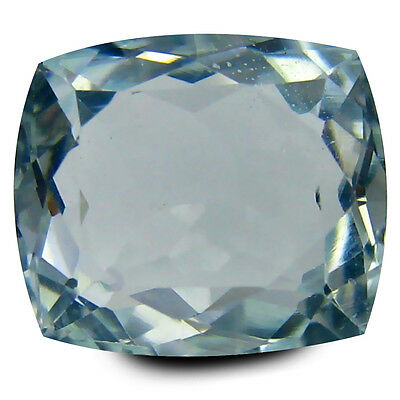 4.23 ct AAA Romantic Cushion Shape (10 x 9 mm) Blue Aquamarine Natural Gemstone